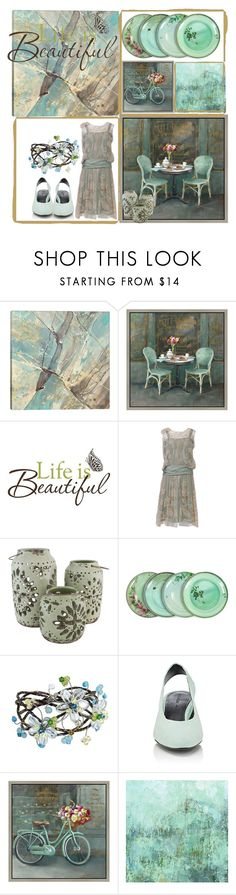 """""""Terrifically Turquoise"""" by mommastephud ❤ liked on Polyvore featuring iCanvas, Green Leaf Art, Brewster Home Fashions, The Import Collection, ibride, NOVICA and Stella Luna"""