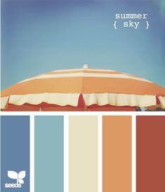 Summer Sky Color Inspiration - possible color scheme if E ever moves out of the basement