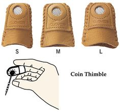 UNDERTHIMBLE COLONIAL BRAND SMOOTH STAINLESS STEEL FINGERTIP THIMBLE PATCHWO