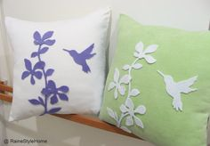 Humming Bird Pillow - i'd love this for the home.