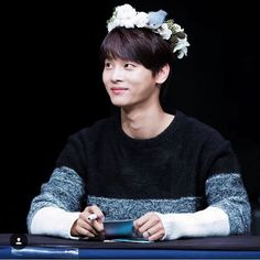 Cha Hakyeon in a flower crown VIXX