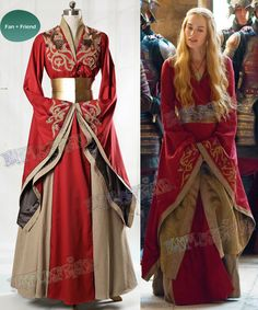 Game of Thrones (TV Series) Cosplay Cersei Lannister Costume Dress - fanplusfriend Got Costumes, Corset Costumes, Movie Costumes, Costume Dress, Cosplay Costumes, Red Costume, Halloween Costumes, Game Of Thrones Outfits, Game Of Thrones Dress