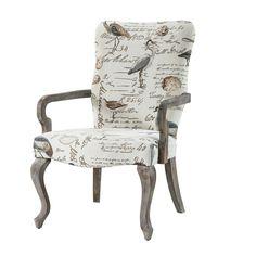 Madison Park Joni Ivory Goose Neck Arm Chair
