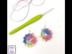 Episode 206: How To Crochet Summer Sparkle Earrings - YouTube