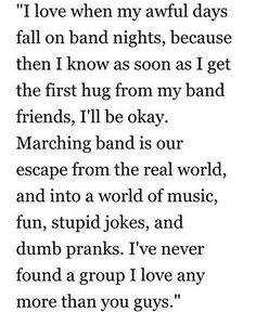 Marching band friends