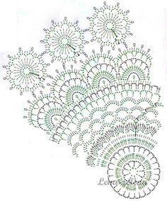 Tejido mantel Crochet Doily Diagram, Crochet Doily Patterns, Filet Crochet, Crochet Motif, Irish Crochet, Crochet Doilies, Crochet Stitches, Crochet Table Runner, Crochet Tablecloth