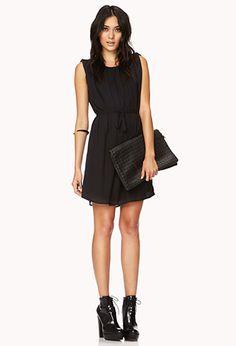 Elegant Shift Dress w/ Sash   FOREVER 21 - 2000127847