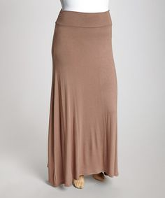 Take a look at this Mocha Maxi Skirt - Plus by CANARI on #zulily today!