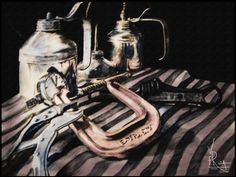"Sketch/digital painting  ""A Heavy Metal Still-life"""