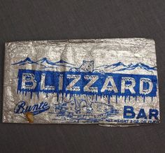 Bunte Blizzard Vintage Candy Bar Wrapper Foil Package 1930's Polar Bear