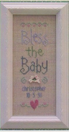 Bless the Baby - Cross Stitch Pattern