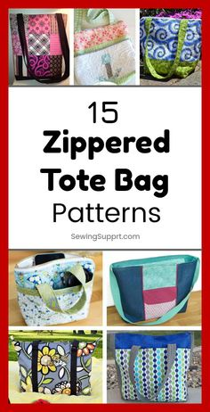 Over a dozen free zippered tote bag sewing patterns, tutorials, and diy projects. Get ideas and step by step instructions for how to sew a lined zip-top tote bag. Great for kids and school. Sewing Patterns Free, Free Sewing, Bag Patterns, Sewing Hacks, Sewing Tutorials, Sewing Tips, Bag Sewing, Diy Sac, Patchwork Bags