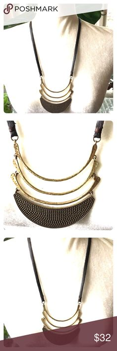 Lucky Brand Golden Tribal Warrior Necklace Store overstock; New with tags; Lucky Brand Golden Tribal Warrior Necklace Lucky Brand Jewelry Necklaces