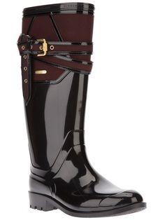 BURBERRY -  Black Rain Boot