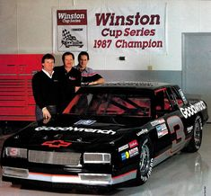 Dale Earnhardt, Andy Petree & Richard Childress won the 1987 Winston Cup Championship. Nascar Race Cars, Old Race Cars, Nascar Memes, The Intimidator, Chevrolet Monte Carlo, Dale Earnhardt Jr, Vintage Racing, My Idol, Auto Racing