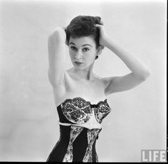 1950s fashion lingerie from Life Magazine October 1952. Photographed by Nina Leen