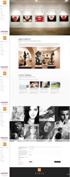 Created this user interface for Artify Sa. Ui Web, Responsive Web, Blake Sims, Web Application, User Interface, App Design, It Works, Behance, Application Design