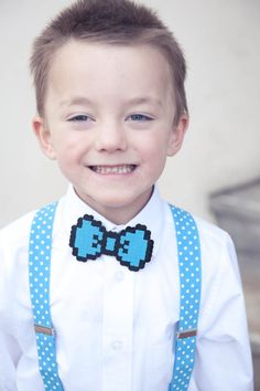 Awesome 8 bit bow tie ring bearer