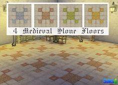 Mod The Sims - 4 Medieval Stone Floors