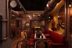 Restaurant in Steampunk stijl