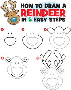 How to Draw a Reindeer | Kid Scoop