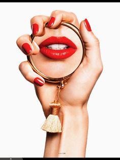 Karmen Pedaru by Katja Rahlwes for Vogue Paris May 2014 - Eyeshadow Lipstick