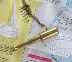 Captain's Spyglass Pendant Necklace by mypaperplane on Etsy, $28.00