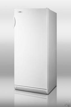 Summit FFAR10 10.1 cu. ft. Counter-Depth All-Refrigerator with Adjustable Wire Shelves, Door Storage, Internal Fans and Interior Light: White
