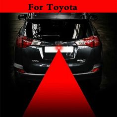 auto Laser Warning Rear Anti Collision Fog Safety Tail Light Red For Toyota Verossa Vios Vitz WiLL Cypha Windom Yaris Highlander