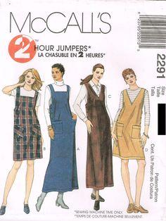 *2291 Sewing Pattern Ladies Jumper Dress 4-6-8 or 10-12-14 or 14-16-18