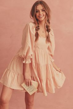 Girly Outfits, Cute Outfits, Pretty Dresses, Beautiful Dresses, Look Vintage, Spring Dresses, Vintage Summer Dresses, Looks Style, Aesthetic Clothes