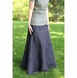 Flowing Chambray Modest Skirt | Long Denim Skirt Size 8-18