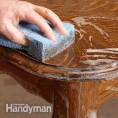 How to refinish old furniture fast and easy while avoiding stripping it down. #diyfurniturecheap