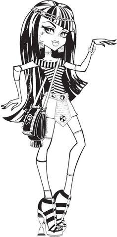 Cleo De Nile Dance Coloring Page