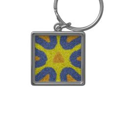 Unique abstract pattern keychains