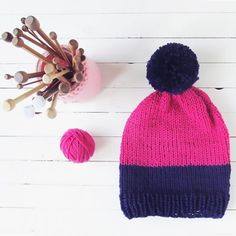 If you're new to knitting this would be an ideal project to perfect your skills! Make your beanie in vibrant colors to celebrate spring!