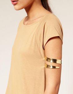 bicep+bracelets | Image 3 of ASOS Wraparound Chunky Arm Cuff