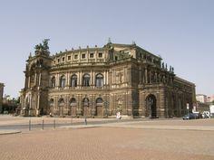 Dresden en Allemagne. Voyage en Europe de l'Est en 2008.