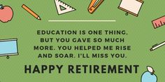 BEST Retirement Quotes For Teachers(Best Quotes) Check more at technokickweb… – My CMS Retirement Farewell Quotes, Teacher Retirement, Happy Retirement, Wishes For Teacher, Old Teacher, Best Teacher, Ill Miss You, Good Student, Knowledge And Wisdom