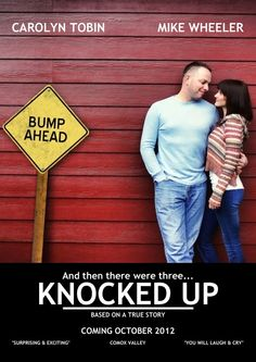 This couples baby announcement! Too Funny!! This photographer must be a knocked up fan.