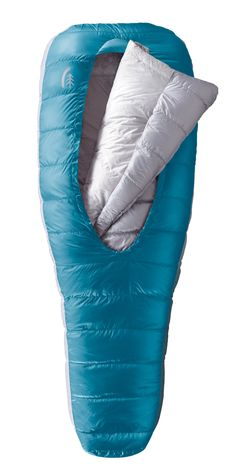 Sierra Designs Backcountry Bed 800-Fill DriDown Women's Regular, 2 Season Sleeping Bag. 800 Fill DriDown, Women's Design and Fit. Versatile integrated comforter wraps allows you to easily adjust to varying temperatures. Insulated Hand/Arm Pockets provide insulation under your arms when comforter is used outside of the bag. Sleeping pad sleeve secures your sleeping pad to create the experience of a fully integrated bed. Catenary shaped opening is smaller than bag width so when you push out...