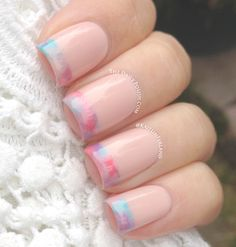 Watercolor French Tips