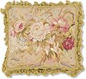 Old Fashioned Roses Needlepoint Pillow