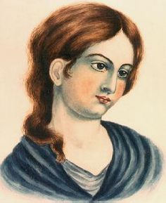 This water-colour was originally attributed to Charlotte, but recent evidence indicates it was almost certainly by Anne. It had once belonged to a family called 'Anderson' in Greater Ouseburn - apparently given to them by the Robinson children to whom Anne was governess. Edward Chitham suggests it may be Anne's portrait of Mary Robinson - one of her charges. Others have suggested that it may be an attempt at a self portrait.