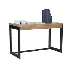 Shop Willow 1 Drawer Semi Assembled Desk with our Price Beat Guarantee. Save with Officeworks. Glass Top Desk, Sit Stand Desk, Desk Setup, Table Desk, Furniture Sale, Wood And Metal, Storage Spaces, Home Office, Drawers
