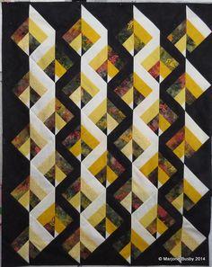 Bonnie Hunter's Strip Twist, limited colors, on point