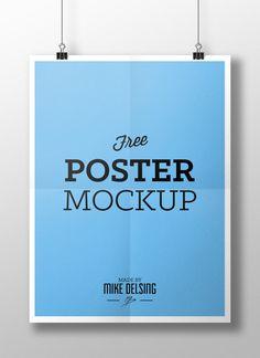 Free Poster MockUp Template PSD | http://www.dailyfreepsd.com/psd/advertisement-poster-psd/free-poster-mockup-template-psd.html