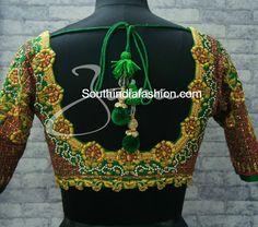 Heavy Maggam Work Bridal Blouses by Zaina, bridal wedding saree blouses