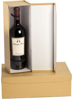 Regency Pop-Up One Wine Bottle Gift Box with Bow $3.96