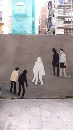 Escif, España...... sal de ti mismo y baila con tu sombra